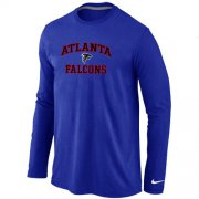 Wholesale Cheap Nike Atlanta Falcons Heart & Soul Long Sleeve T-Shirt Blue