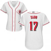 Wholesale Cheap Reds #17 Chris Sabo White Home Women's Stitched MLB Jersey