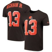 Wholesale Cheap Cleveland Browns #13 Odell Beckham Jr Nike Player Pride 3.0 Performance Name & Number T-Shirt Brown