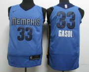 Wholesale Cheap Men's Memphis Grizzlies #33 Marc Gasol New Light Blue 2017-2018 Nike Authentic Stitched NBA Jersey
