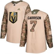 Wholesale Cheap Adidas Golden Knights #7 Jason Garrison Camo Authentic 2017 Veterans Day Stitched Youth NHL Jersey