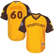 Wholesale Cheap Astros #60 Dallas Keuchel Gold 2016 All-Star American League Stitched Youth MLB Jersey