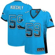 Wholesale Cheap Nike Panthers #59 Luke Kuechly Blue Alternate Women's Stitched NFL Elite Drift Fashion Jersey