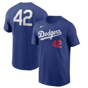 Wholesale Cheap Los Angeles Dodgers Nike Jackie Robinson Day Team 42 T-Shirt Royal
