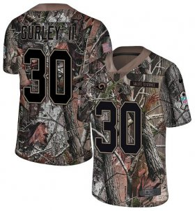 Wholesale Cheap Nike Rams #30 Todd Gurley II Camo Youth Stitched NFL Limited Rush Realtree Jersey