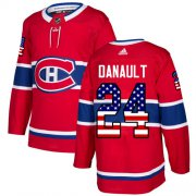 Wholesale Cheap Adidas Canadiens #24 Phillip Danault Red Home Authentic USA Flag Stitched NHL Jersey