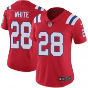 Wholesale Cheap Nike Patriots #28 James White Red Alternate Women's Stitched NFL Vapor Untouchable Limited Jersey