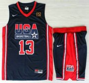 Wholesale Cheap USA Basketball 1992 Olympic Dream Team #13 Chris Mullin Blue Jerseys & Shorts