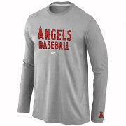 Wholesale Cheap Los Angeles Angels Long Sleeve MLB T-Shirt Grey