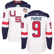 Wholesale Cheap Team USA #9 Zach Parise White 2016 World Cup Stitched Youth NHL Jersey