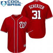 Wholesale Cheap Nationals #31 Max Scherzer Red Cool Base Stitched Youth MLB Jersey
