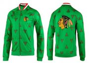 Wholesale NHL Chicago Blackhawks Zip Jackets Green-2