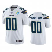 Wholesale Cheap Los Angeles Chargers Custom White 60th Anniversary Vapor Limited NFL Jersey