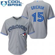 Wholesale Cheap Blue Jays #15 Randal Grichuk Grey New Cool Base Stitched MLB Jersey