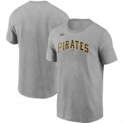 Wholesale Cheap Pittsburgh Pirates Nike Cooperstown Collection Wordmark T-Shirt Heathered Gray