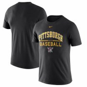 Wholesale Cheap Pittsburgh Pirates Nike Away Practice T-Shirt Black