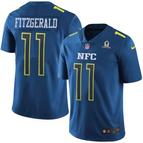Wholesale Cheap Nike Cardinals #11 Larry Fitzgerald Navy Men\'s Stitched NFL Limited NFC 2017 Pro Bowl Jersey