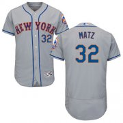 Wholesale Cheap Mets #32 Steven Matz Grey Flexbase Authentic Collection Stitched MLB Jersey