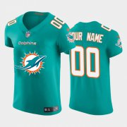 Wholesale Cheap Miami Dolphins Custom Aqua Green Men's Nike Big Team Logo Elite NFL Jersey