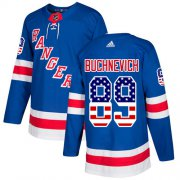 Wholesale Cheap Adidas Rangers #89 Pavel Buchnevich Royal Blue Home Authentic USA Flag Stitched Youth NHL Jersey