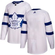 Wholesale Cheap Adidas Maple Leafs Blank White Authentic 2018 Stadium Series Stitched Youth NHL Jersey