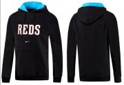 Wholesale Cheap Cincinnati Reds Pullover Hoodie Black & Blue