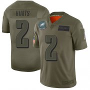 Wholesale Cheap Nike Eagles #2 Jalen Hurts Camo Youth Stitched NFL Limited 2019 Salute To Service Jersey