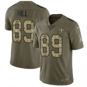 Wholesale Cheap Nike Saints #89 Josh Hill Olive/Camo Men's Stitched NFL Limited 2017 Salute To Service Jersey