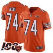 Wholesale Cheap Nike Bears #74 Germain Ifedi Orange Men's Stitched NFL Limited Rush 100th Season Jersey