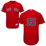 Wholesale Cheap Red Sox #15 Dustin Pedroia Red Flexbase Authentic Collection 2018 World Series Stitched MLB Jersey