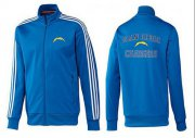 Wholesale NFL Los Angeles Chargers Heart Jacket Blue_2