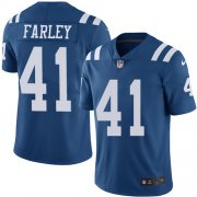 Wholesale Cheap Nike Colts #41 Matthias Farley Royal Blue Youth Stitched NFL Limited Rush Jersey