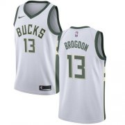 Cheap Youth Milwaukee Bucks #13 Malcolm Brogdon White Basketball Swingman Association Edition Jersey