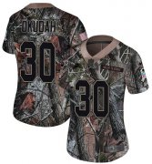 Wholesale Cheap Nike Lions #30 Jeff Okudah Camo Women's Stitched NFL Limited Rush Realtree Jersey