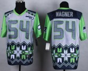 Wholesale Cheap Nike Seahawks #54 Bobby Wagner Grey Men's Stitched NFL Elite Noble Fashion Jersey