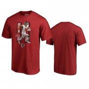 Wholesale Cheap Atlanta Falcons #11 Julio Jones Red Men's Player Graphic Powerhouse T-Shirt
