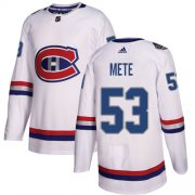 Wholesale Cheap Adidas Canadiens #53 Victor Mete White Authentic 2017 100 Classic Stitched NHL Jersey
