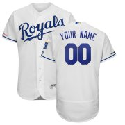 Wholesale Cheap Kansas City Royals Majestic Home Authentic Collection Flex Base Custom Jersey White