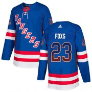 Wholesale Cheap Adidas Rangers #23 Adam Foxs Royal Blue Home Authentic Drift Fashion Stitched NHL Jersey