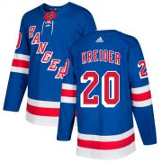 Wholesale Cheap Adidas Rangers #20 Chris Kreider Royal Blue Home Authentic Stitched Youth NHL Jersey