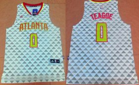Wholesale Cheap Men\'s Atlanta Hawks #0 Jeff Teague Revolution 30 Swingman 2015-16 New White Jersey
