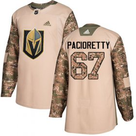 Wholesale Cheap Adidas Golden Knights #67 Max Pacioretty Camo Authentic 2017 Veterans Day Stitched Youth NHL Jersey
