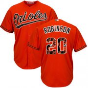 Wholesale Cheap Orioles #20 Frank Robinson Orange Team Logo Fashion Stitched MLB Jersey