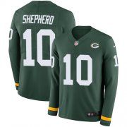 Wholesale Cheap Nike Packers #10 Darrius Shepherd Green Team Color Men's Stitched NFL Limited Therma Long Sleeve Jersey