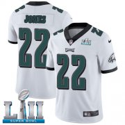 Wholesale Cheap Nike Eagles #22 Sidney Jones White Super Bowl LII Youth Stitched NFL Vapor Untouchable Limited Jersey