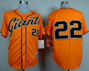 Wholesale Cheap Giants #22 Will Clark Orange Alternate Cool Base Stitched MLB Jersey