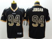 Wholesale Cheap Nike Saints #94 Cameron Jordan Black Team Color Men's Stitched NFL Elite Drift Fashion Jersey