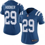 Wholesale Cheap Nike Colts #29 Malik Hooker Royal Blue Team Color Women's Stitched NFL Vapor Untouchable Limited Jersey