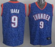 Wholesale Cheap Oklahoma City Thunder #9 Serge Ibaka Blue Leopard Print Fashion Jersey