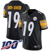 Wholesale Cheap Nike Steelers #19 JuJu Smith-Schuster Black Team Color Youth Stitched NFL 100th Season Vapor Limited Jersey